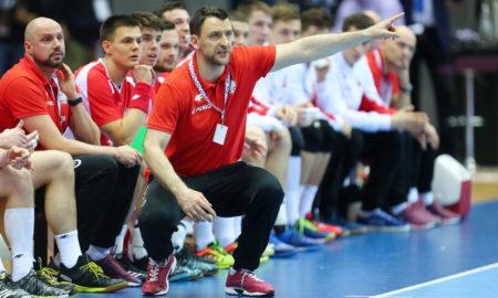 Piotr Przybecki w meczu Polska - Białoruś