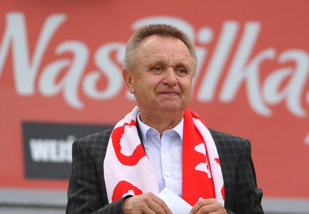 Bogusław Kaczmarek na meczu reprezentacji Polski