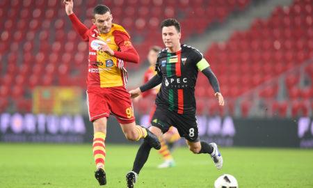 Łukasz Grzeszczyk w meczu GKS Tychy - Chojniczanka Chojnice
