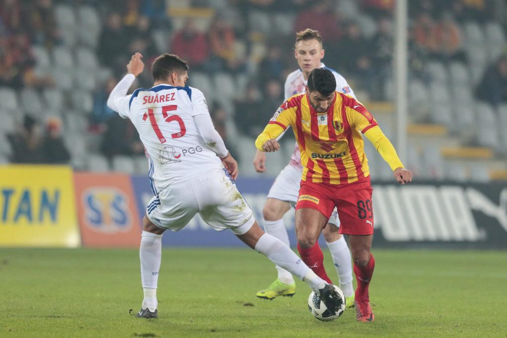 Dani Suarez w meczu Korona Kielce - Górnik Zabrze