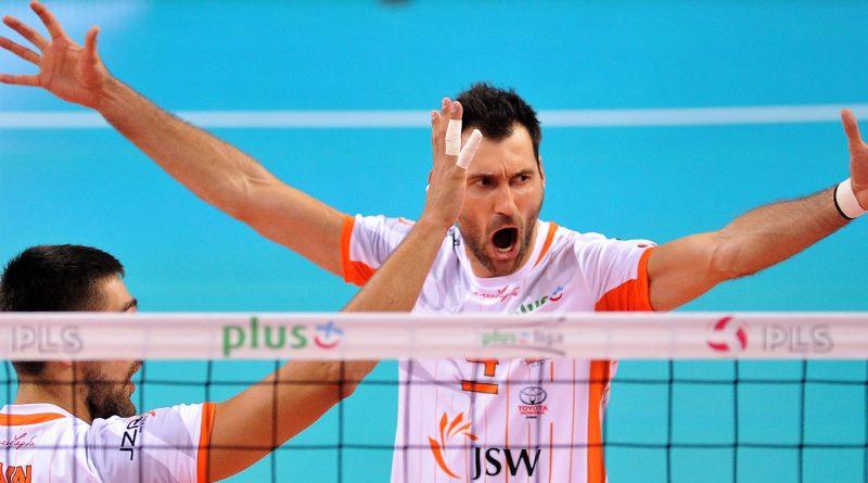 Grzegorz Kosok w meczu Jastrzębski Węgiel - Skra