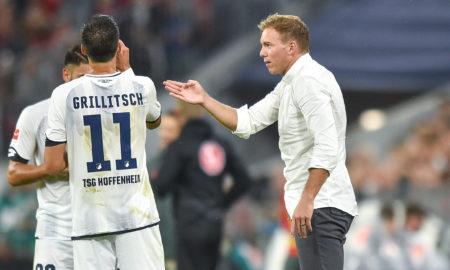 Julian Nagelsmann w meczu FC Bayern Monachium - TSG 1899 Hoffenheim