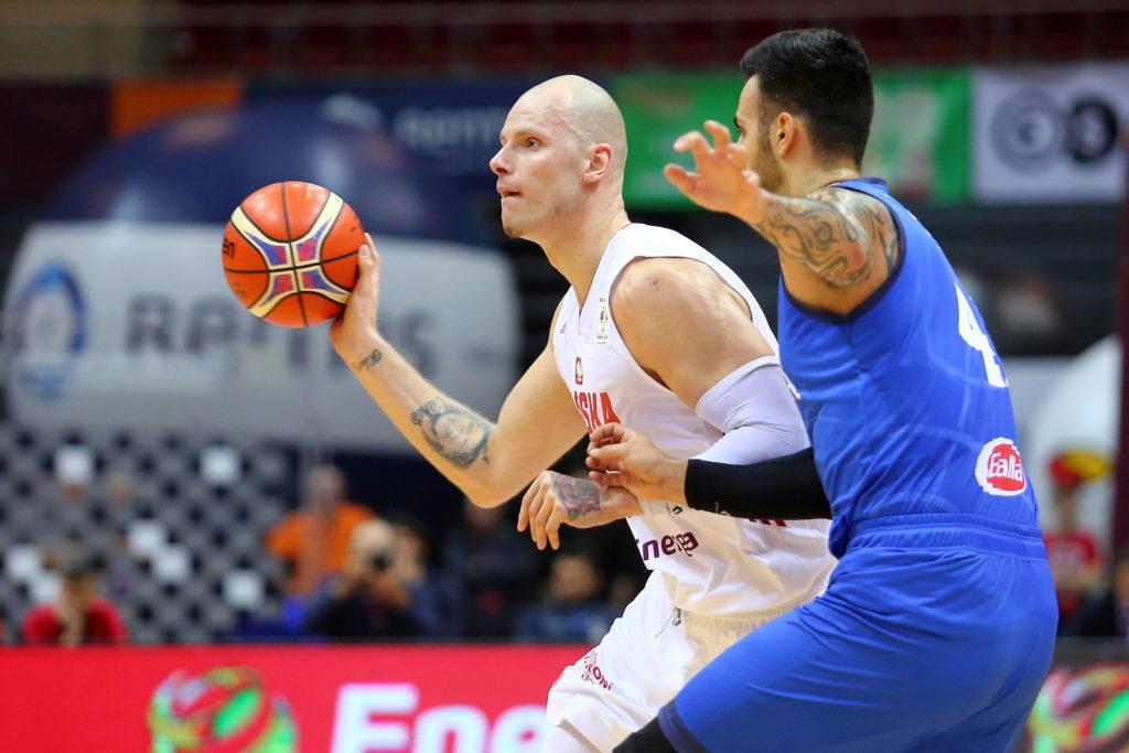 Maciej Lampe w meczu Polska - Włochy