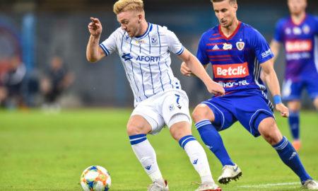 Kamil Jóźwiak w meczu Piast Gliwice - Lech Poznań