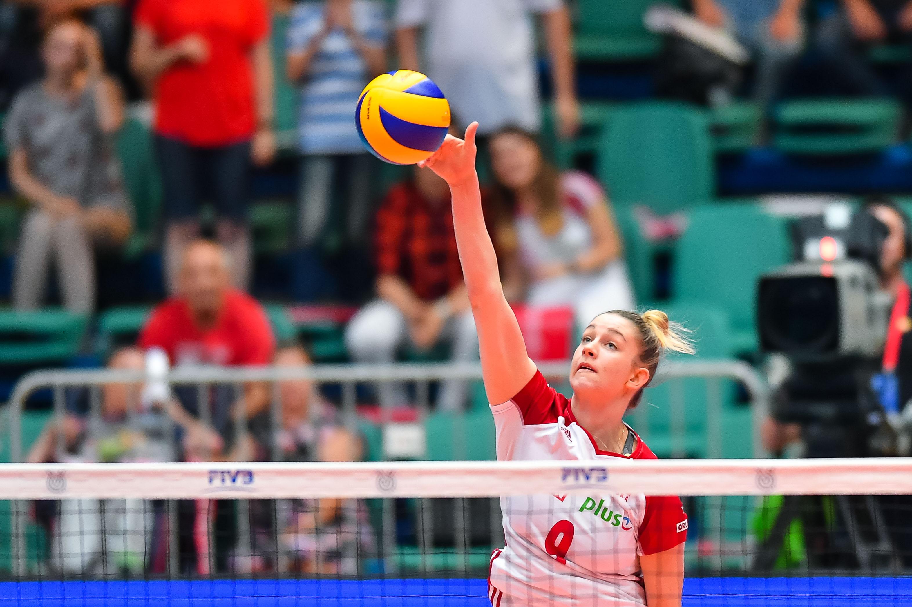 Magdalena Stysiak w meczu Polska - Serbia