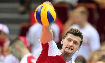 Piotr Nowakowski w meczu Polska - Słowenia